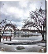 Mamaroneck Harbor In Winter Acrylic Print