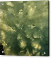 Mammatus Clouds And Double Rainbow Acrylic Print