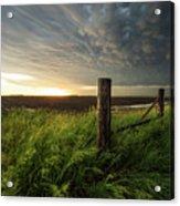 Mammatus Sunset Acrylic Print