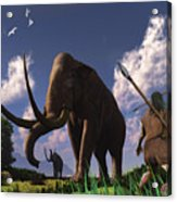 Mammoth Hunters Acrylic Print