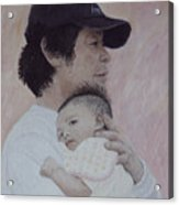 Man And Baby Acrylic Print