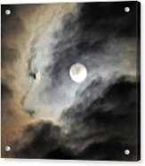 Man And Moon Acrylic Print
