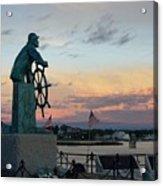 Man At The Wheel At Sunset Acrylic Print by Matthew Green