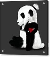 Man Bun Panda Acrylic Print
