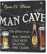 Man Cave Chalkboard Sign Acrylic Print