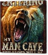 Man Cave Acrylic Print by JQ Licensing