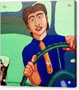 Man Driving With Coke Acrylic Print