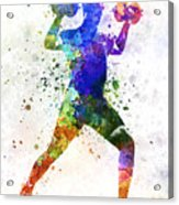 Man Exercising Weight Training Acrylic Print