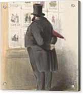 Man For A Showcase With Prints, Anonymous, 1810 - C. 1900 Acrylic Print