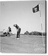 Man Golfing, C.1960s Acrylic Print