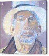 Man In A Straw Hat Acrylic Print