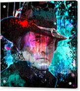 Man In Black Acrylic Print