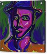Man In Blue Hat Acrylic Print