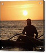 Man In Canoe Acrylic Print