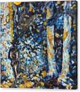 Man In Moonshadow Acrylic Print