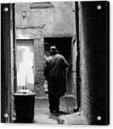 Man In Paris Alley Acrylic Print