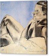 Man In Recline Acrylic Print