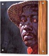Man In Straw Hat Acrylic Print