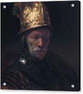 Man In The Golden Helmet Acrylic Print