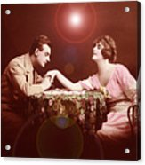 Man Kissing Womans Hand Romantic Couple Acrylic Print