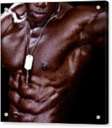 Man Made Of Dark Chocolate Acrylic Print by Val Black Russian Tourchin