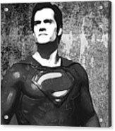 Man Of Steel Monochrome Acrylic Print