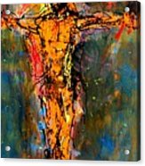 Man On A Cross Acrylic Print