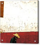 Man On A Patzcuaro Street Acrylic Print