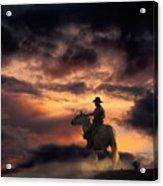 Man On Horseback Acrylic Print