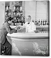 Man Ordering Another Drink, C. 1940s Acrylic Print
