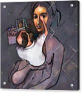 Man Painting Woman Acrylic Print