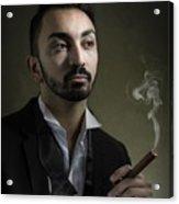 Man Smoking A Cigar Acrylic Print