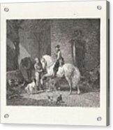 Man Te Paard In Een Stal Acrylic Print