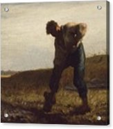 Man Turning Over The Soil Acrylic Print