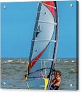Man Wind Surfing Acrylic Print