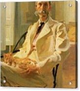 Man With Cat Acrylic Print