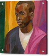 Man With Crimson Drapery Acrylic Print
