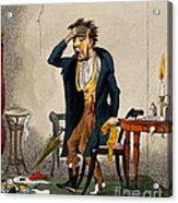 Man With Excruciating Headache, 1835 Acrylic Print