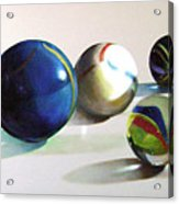 Man With Glass Balls  Acrylic Print