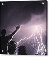 Man With Lightning, Arizona Acrylic Print