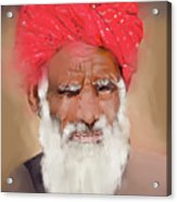 Man With Red Headwrap Acrylic Print
