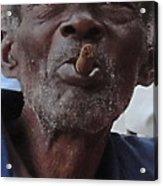 Man With Sigar Acrylic Print