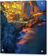 Manarola Lights Acrylic Print