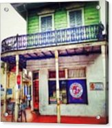 Manass's Grocery From Front Acrylic Print