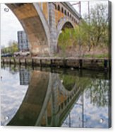 Manayunk Canal Bridge Reflection Acrylic Print