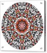 Mandala - Amulet 873 For Those Born In ..... Acrylic Print