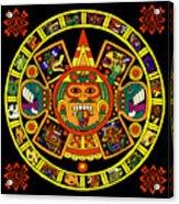 Mandala Azteca Acrylic Print