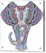 Mandala Elephant Indigo Acrylic Print