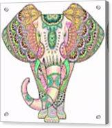 Mandala Elephant Psicodelic Acrylic Print