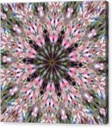 Mandala Of Cherry Blossom Acrylic Print